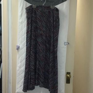 Maxi knit skirt